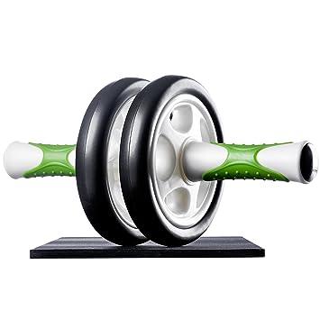 Ultrasport AB Roller Aparato de abdominales, práctico aparato de fitness para entrenar musculatura y espalda, rodillo de abdominales con esterilla ...