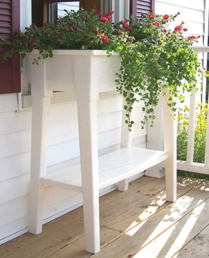 36u0026quot; Raised Planter Bed Box Deck Patio Garden Flower ...