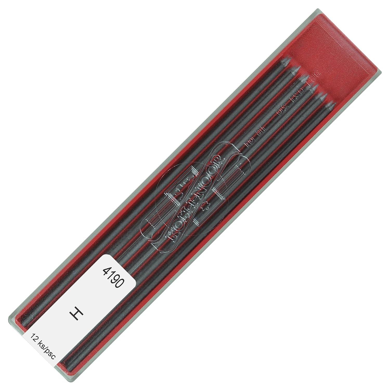 KOH-I-NOOR - Mine H in grafite per portamine, 2 mm di diametro, lunghezza: 120 mm 419000H013PK