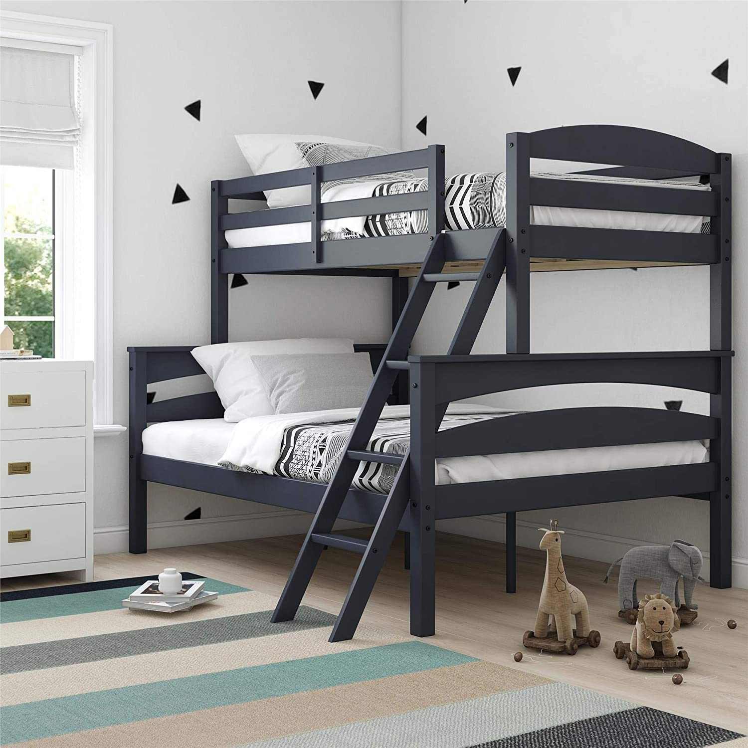 Dorel Living Brady Solid Wood Bunk Beds with Ladder