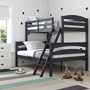 Dorel Living Brady Solid Wood Bunk Beds with Ladder and Guard Rail
