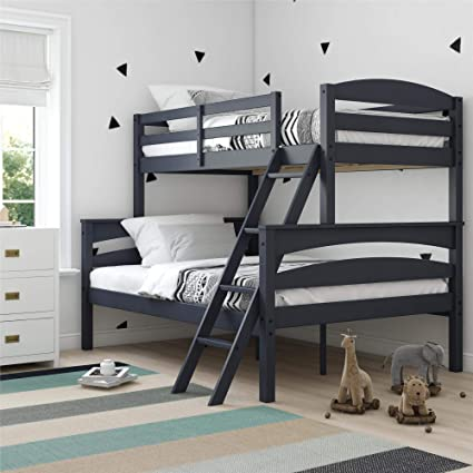 Amazon.com: Dorel Living DA6940BL Brady Solid Wood Bunk Beds with ...