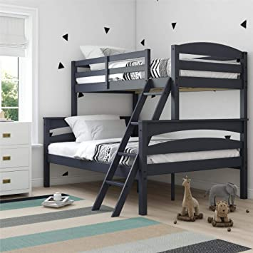 Amazon Com Dorel Living Brady Solid Wood Bunk Beds Twin Over Full
