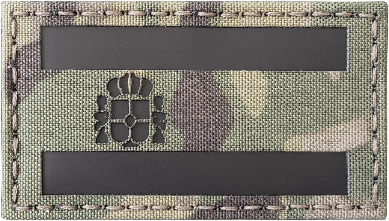 Diseño de infrarrojos IR España Bandera Bandera España Laser Cut 3,5 x 2 reflectantes Iff Tactical moral parche de gancho y correa: Amazon.es: Deportes y aire libre