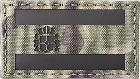 Multicam Infrared IR Spain Flag Bandera España 3.5x2 IFF Tactical Morale Touch Fastener Patch: Amazon.es: Deportes y aire libre