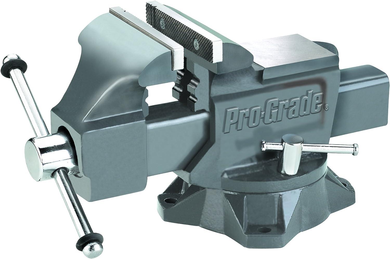 """6/"""" 4/"""" Pro-Grade 59115 Heavy Duty Swivel Bench Vise"""