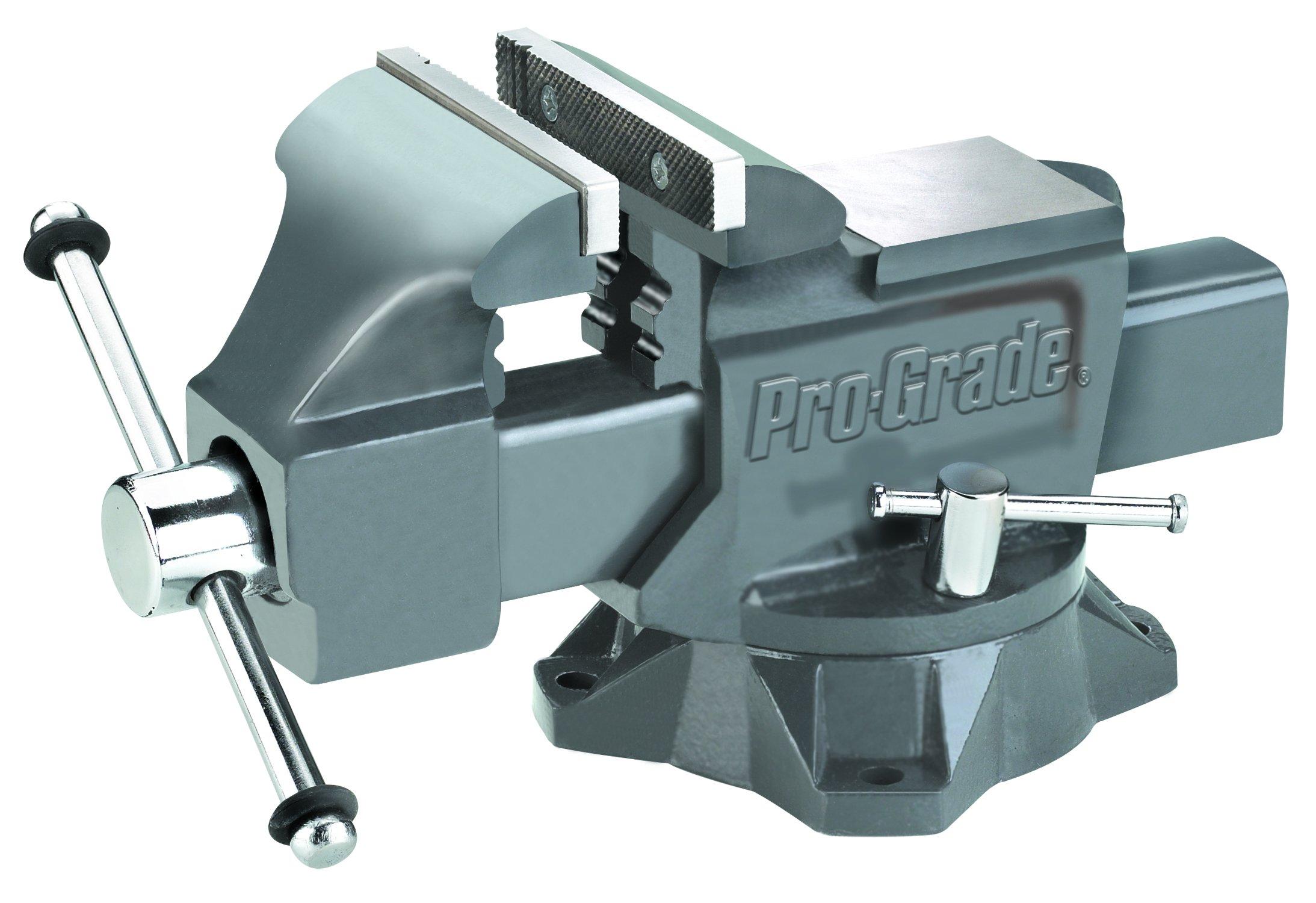 Pro-Grade 59115 Heavy Duty Swivel Bench Vice, 6-Inch
