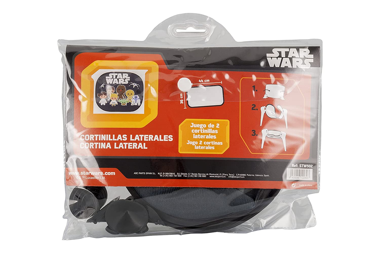 Star Wars STW502 Small Sun Shades for Cars