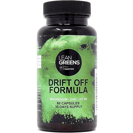 Citrato de magnesio, citrato de zinc, vitamina B6: Drift Off Formula de Lean