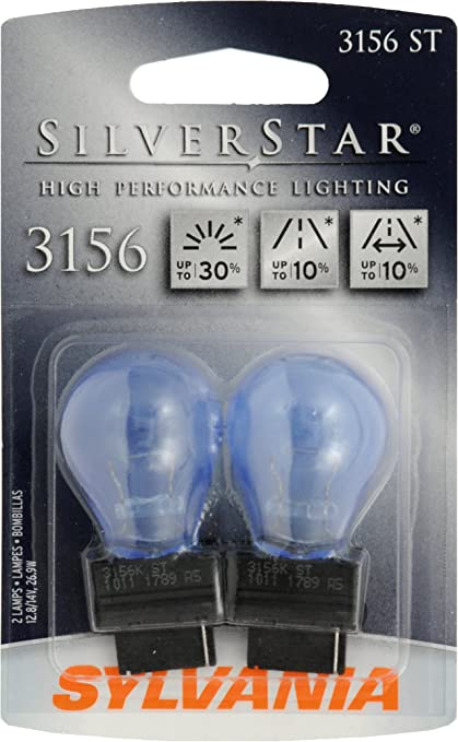 Sylvania 3156 ST SilverStar High Performance Halogen Miniature Lamp, (Pack of 2)