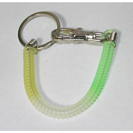 Llavero Llavero de espiral 17 cm verde blanco amarillo ...