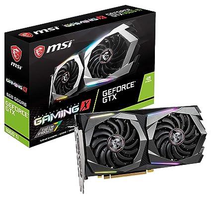 MSI Gaming GeForce GTX 1660 Ti 192-bit HDMI/DP 6GB GDRR6 HDCP Support  DirectX 12 Dual Fan VR Ready OC Graphics Card