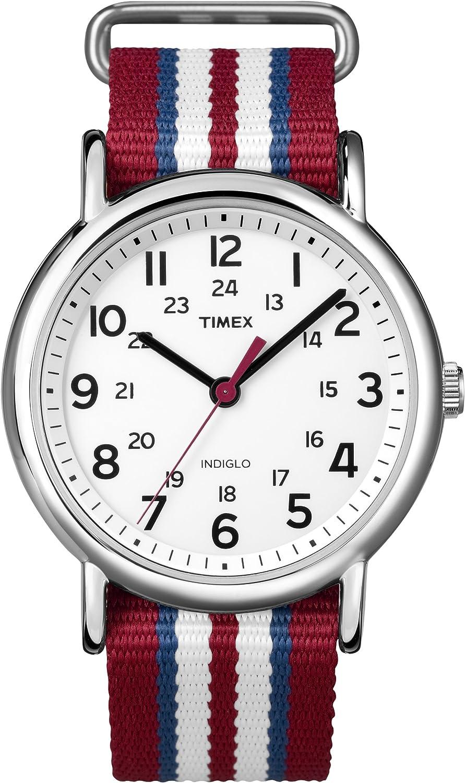 Timex Men's Weekender Central Park Slip Through Strap White T2N746GP