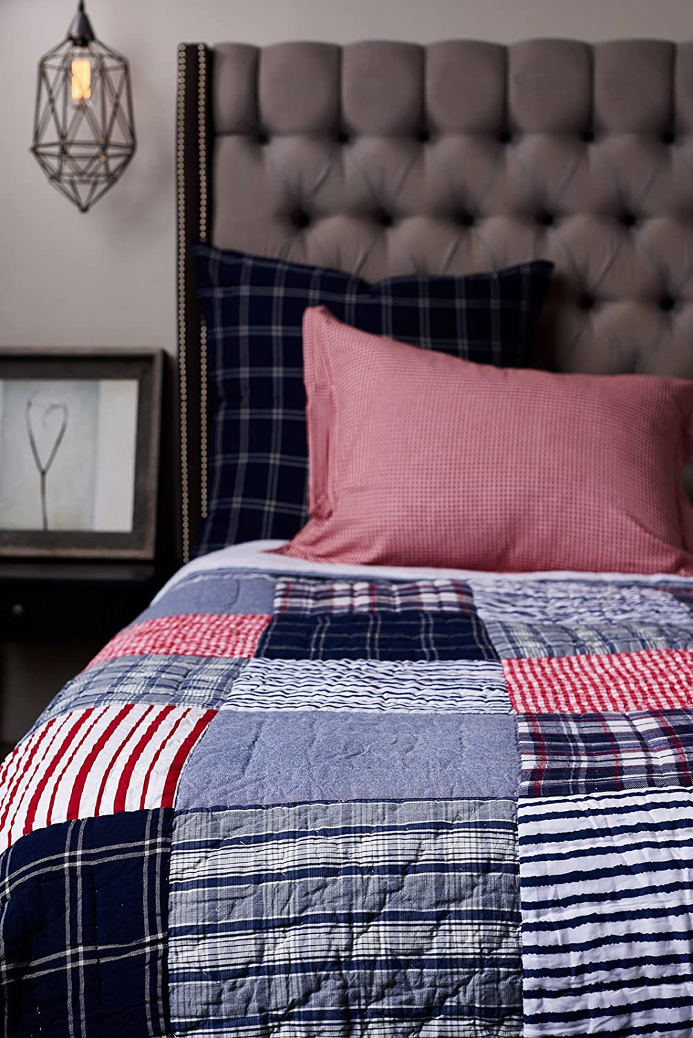 Be-You-tiful Home Eric Cotton Queen Quilt Multi Amity Home CC842Q