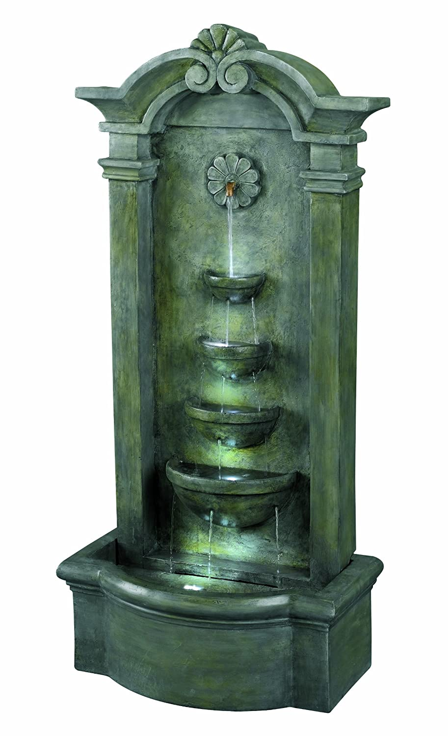 Ordinaire Amazon.com: Kenroy Home #53245MS Sienna Outdoor Floor Fountain In Mossy  Stone Finish: Home U0026 Kitchen