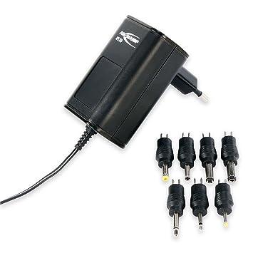 ANSMANN Cargador universal APS 300 para aparatos electrónicos - Con potencia eléctrica de 3.6 W - 7 conectores de recambio - Fuente de alimentación
