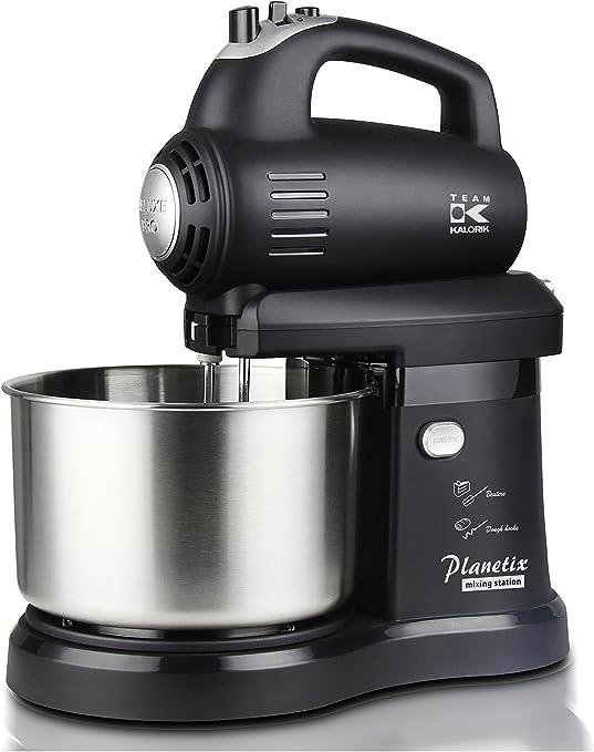 Team Kalorik 2347 KALORIK 2 en 1 – Robot de Cocina Mano con Innovador rechtsschwenkendem Licuadora/Izquierda, 2,8 kg, 300 W, 2.8 litros, Plástico, Acero inoxidable, Negro: Amazon.es: Hogar