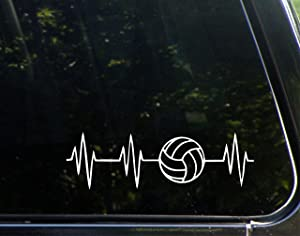 "Sweet Tea Decals Volleyball Lifeline- 8-3/4""x 2-3/4""- Vinyl Die Cut Decal/Bumper Sticker for Windows, Trucks, Cars, Laptops, Macbooks, Etc."