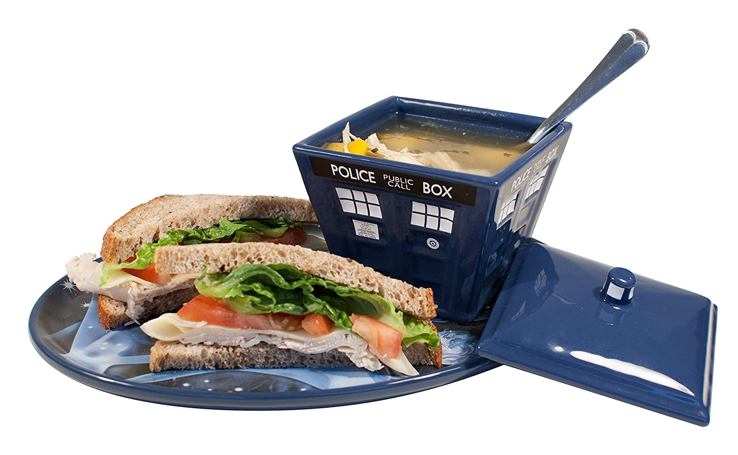 Dr Who Tardis Soup and Sandwich Set | amazon.com