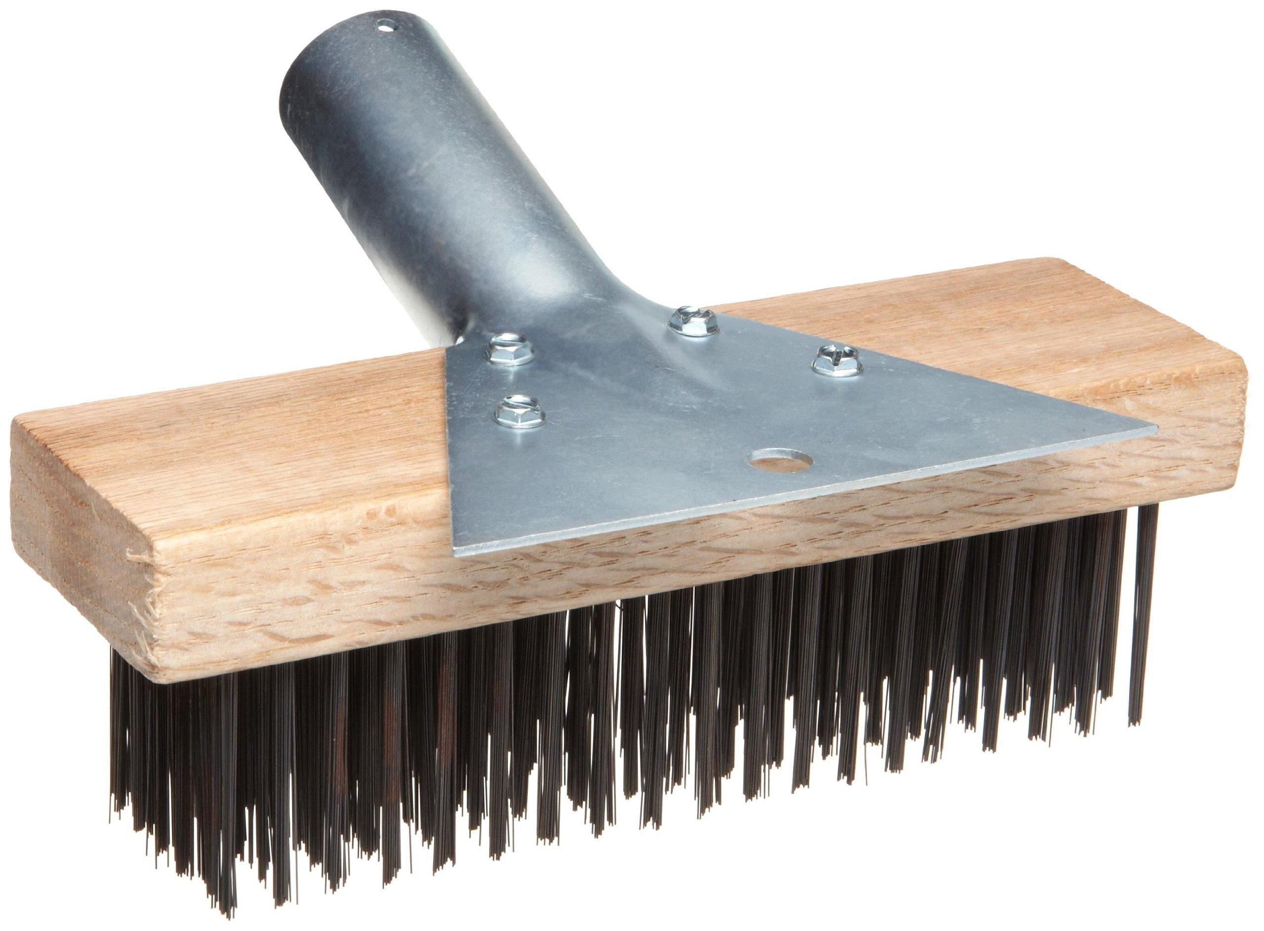 Magnolia Brush 5-SC-7 Round Painters Scratch Brush with Scraper, Carbon Steel Wire Bristles, 1-9/16'' Trim, 7-1/8'' Length x 2-1/4'' Width (Case of 12)