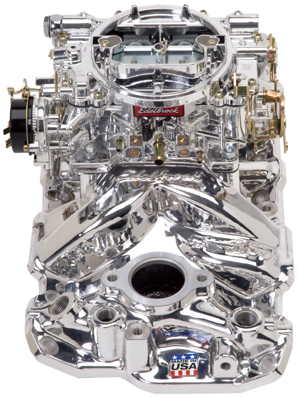 Edelbrock 20214 Manifold And Carburetor Kit Automotive Chevy 350 Hei Distributor Rebuild
