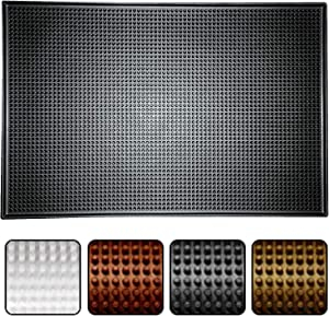 Bartender's Cocktail Bar Mat, Dishwasher Safe Kitchen Countertop and Mixology Station, (Multiple colors and sizes)