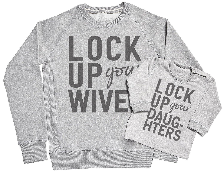 SR Lock Up Father /& Baby Sweatshirt Gift Set