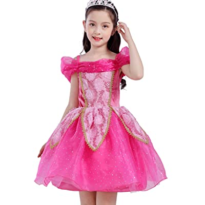Dressy Daisy Toddler Girls Princess Dress Up Costume Birthday Halloween Christmas Fancy Party Outfit: Clothing