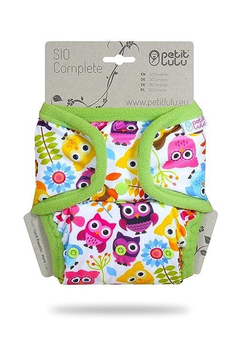 Petit Lulu Nappy SIO Complete AIO Diaper /& SIO Insert One Size Birth to Potty