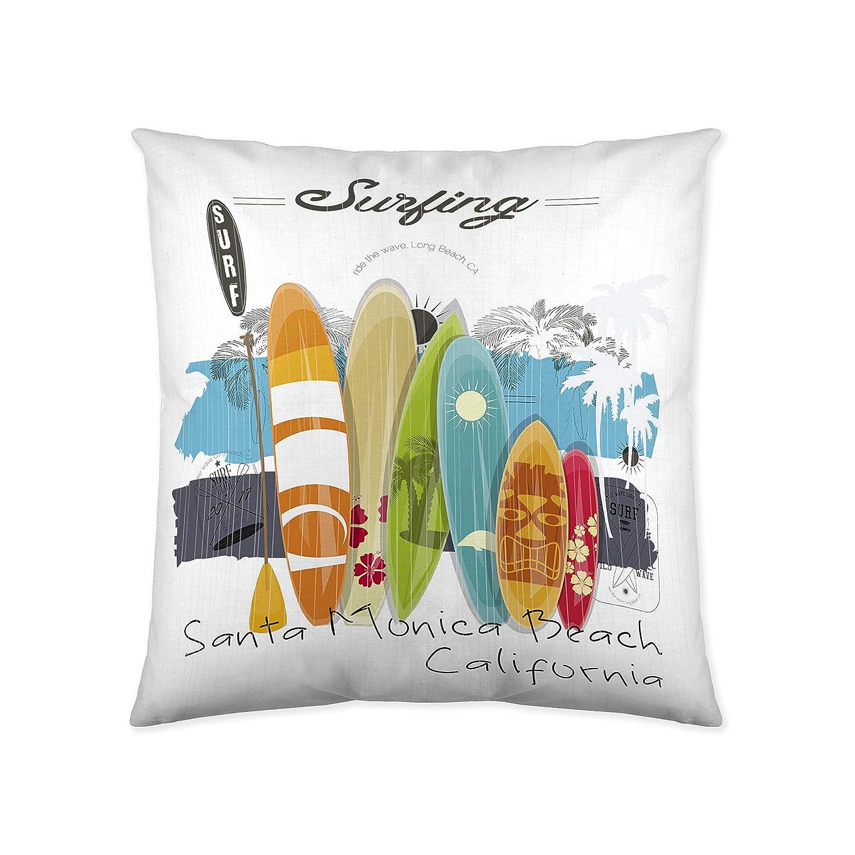 COTTON ART- Funda Nórdica Infantil / juvenil SURF Cama de 90 (150X260cm)+ 1 FUNDA DE ALMOHADA (45X110cm). ALGODÓN 100%. Disponible para cama de 90 y ...
