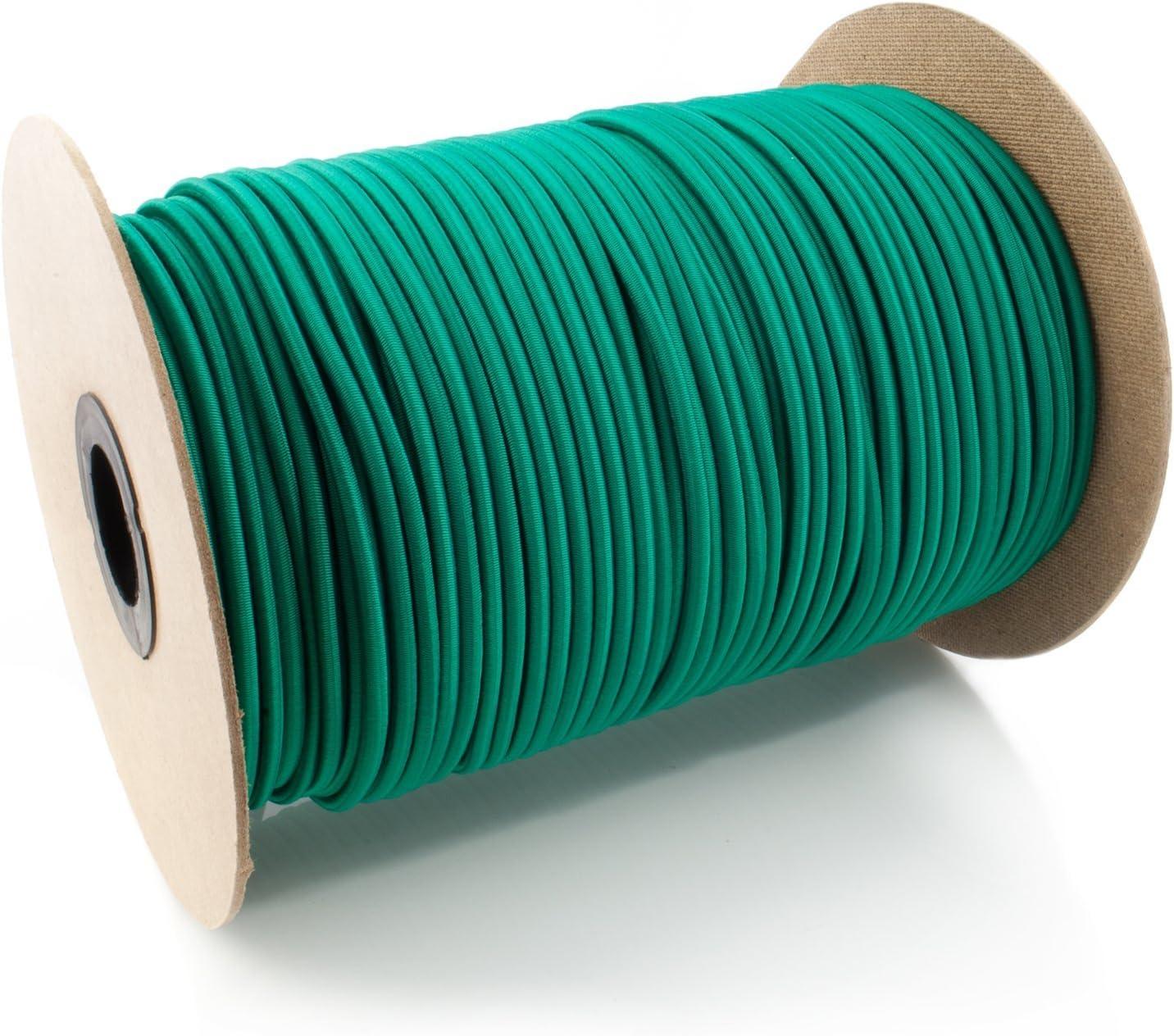40m corde /élastique c/âble 12mm blanc plusieurs tailles et couleurs
