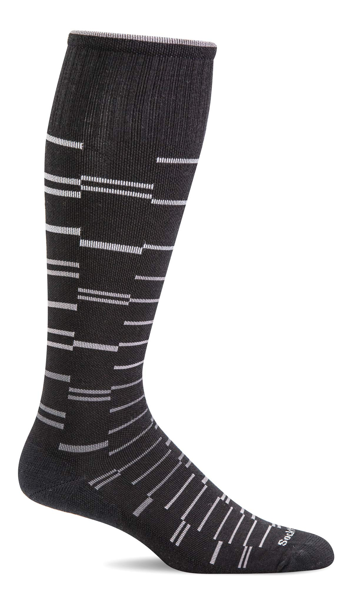 Sockwell Men's Dashing Moderate Graduated Compression Sock, Black - M/L by Sockwell