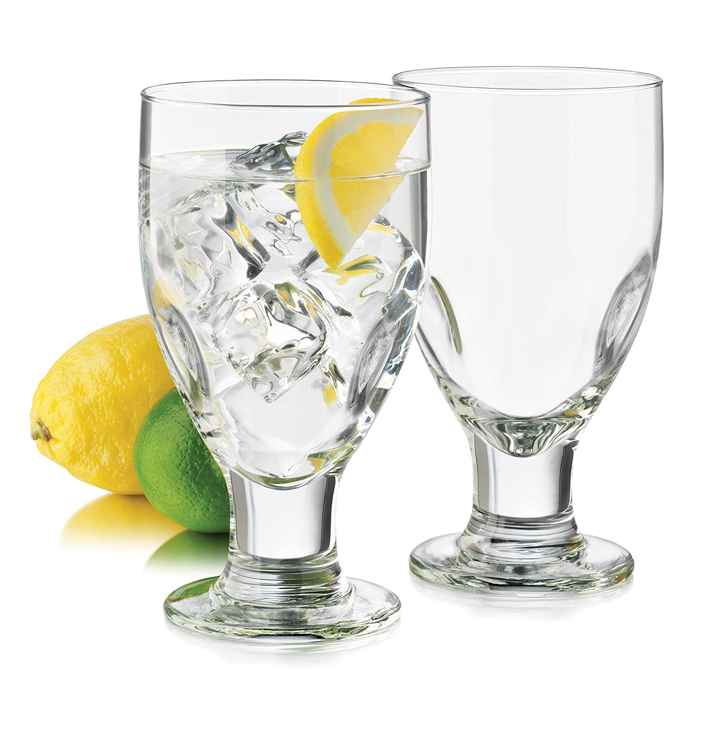 Libbey 4-Piece Impressions Goblet Glass, 17.5-Ounce, Clear 3292S4
