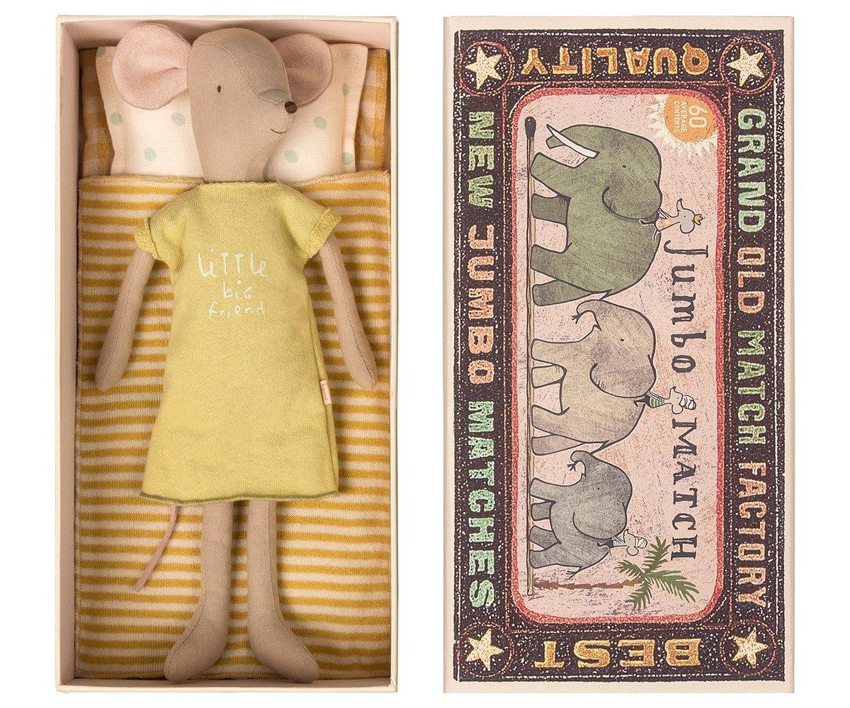 venta mundialmente famosa en línea Maileg Maileg Maileg Mittleres niña Ratón en caja  barato