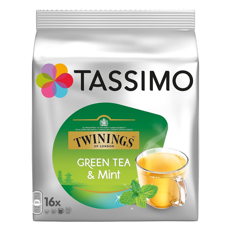 Tassimo Twinings Té verde y Menta, Paquete de 3, 3 x 16 T-Discs ...