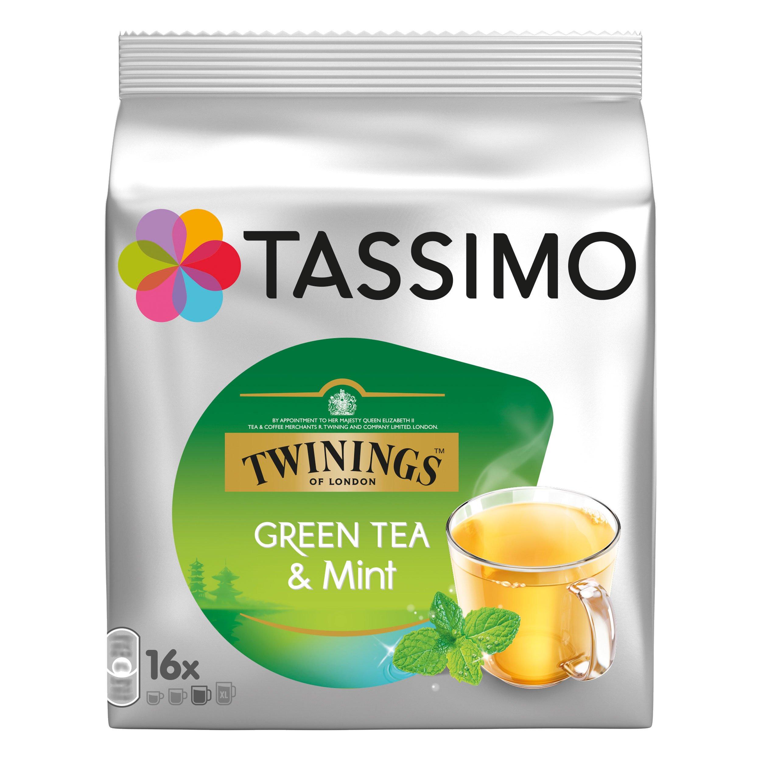 Tassimo Twinings Green Tea & Mint, 16 T-discs