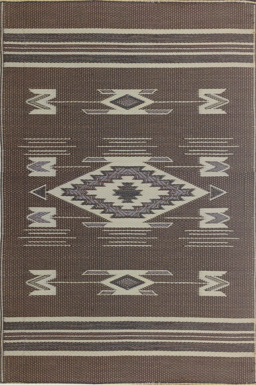 Mad Mats Navajo Indoor/Outdoor Floor Mat, 5 by 8-Feet, Brown