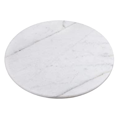 Creative Home Marble Lazy Susan Table Decor, 12 , White