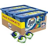 Dash PODS 3in1 Detersivo Lavatrice in Monodosi Salva Colore, Maxi Formato 3 x 39 da 117 Lavaggi