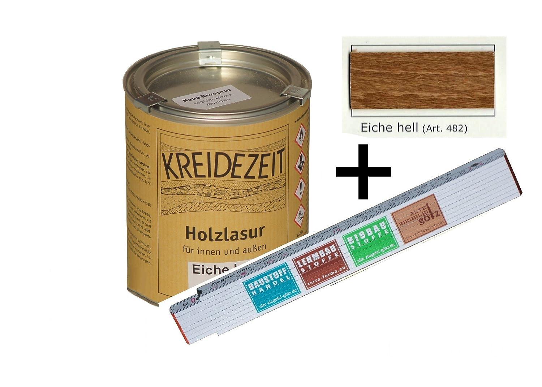 Holzlasur Fur Innen Und Aussen 0 75 L Farbig Eiche Hell Amazon De