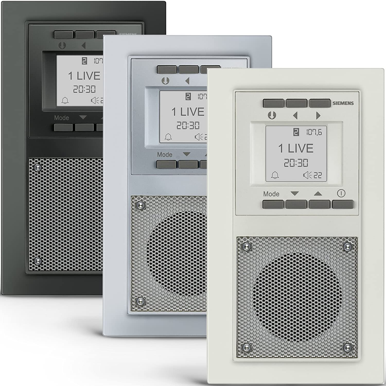 SIEMENS Steckdosen RADIO in Aluminiummetallic DELTA miro Unterputz ...