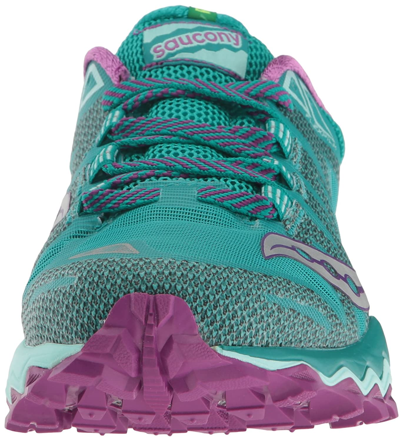Saucony Women's Peregrine 7 Trail Running Shoe B01GJYD584 6.5 B(M) US|Teal/Purple/Citron