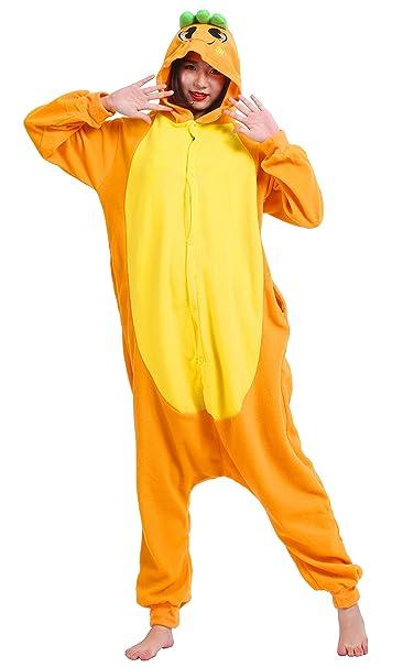Pijama Zanahoria, Onesie Modelo Animal Cosplay para Adulto entre 1,40 y 1,87 m Kugurumi Unisex: Amazon.es: Ropa y accesorios