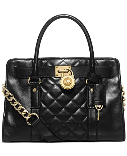 Michael Kors Black Hamilton Quilt East West Satchel: Handbags ... : michael kors black quilted handbag - Adamdwight.com