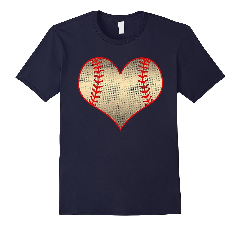 Baseball Heart T-Shirt for Baseball Softball Mom Fans-PL