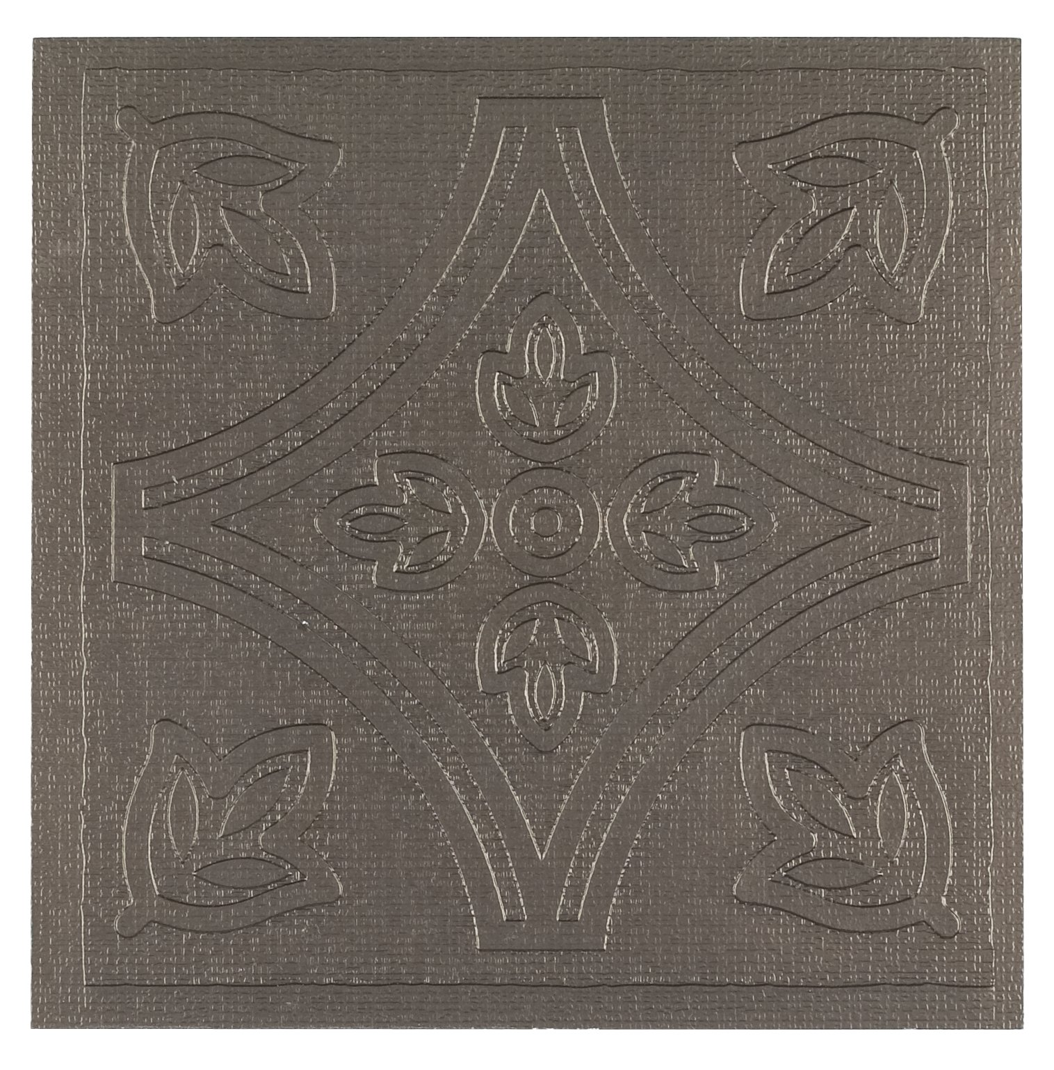 Achim Home Furnishings WTV303MT10 Metallo Wall Tile, 4 by 4-inch, Pewter/brown, 27-Pack by Achim Home Furnishings