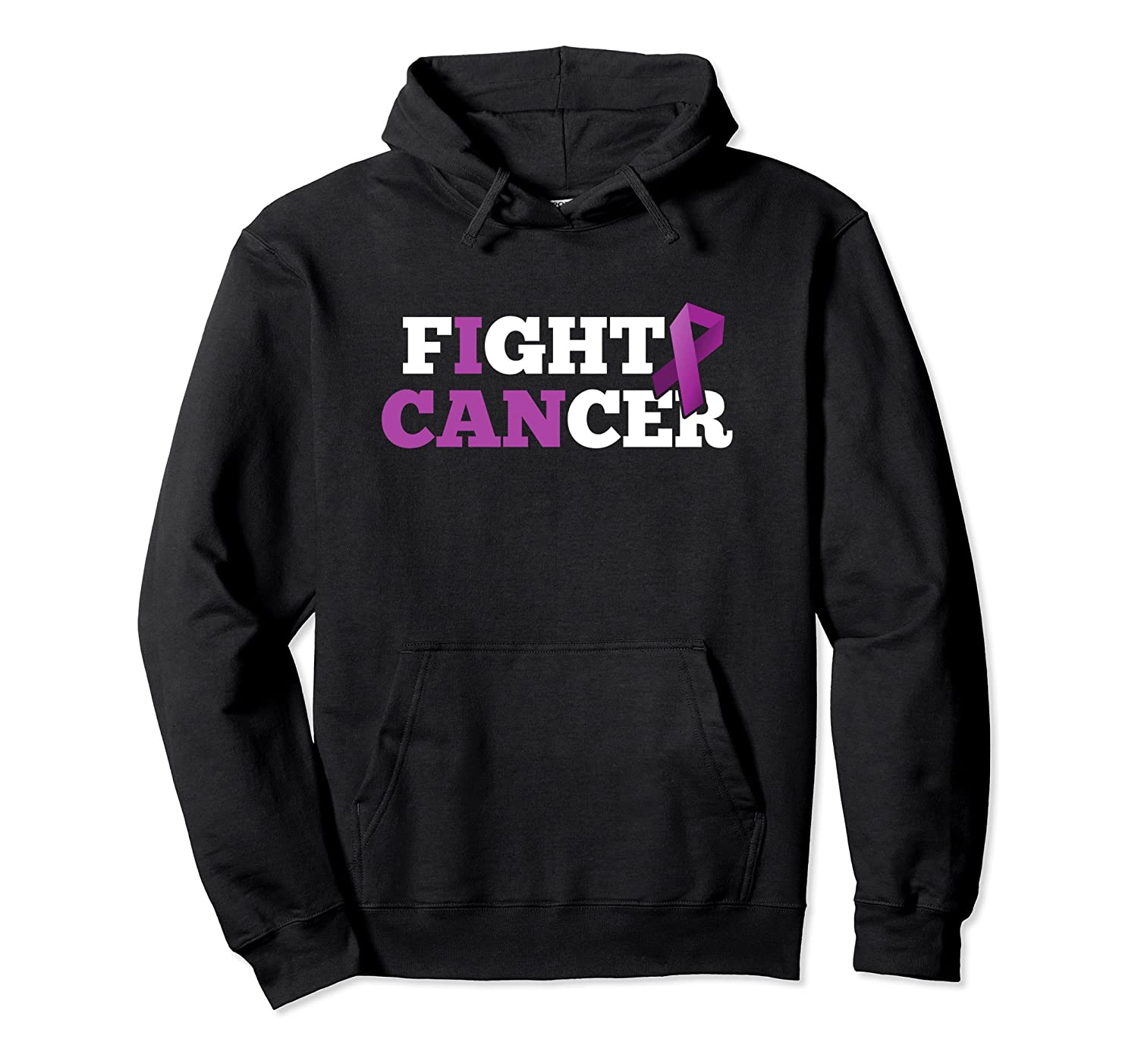 Fight Cancer Pancreatic Purple Support Ribbon Hoodie-fa
