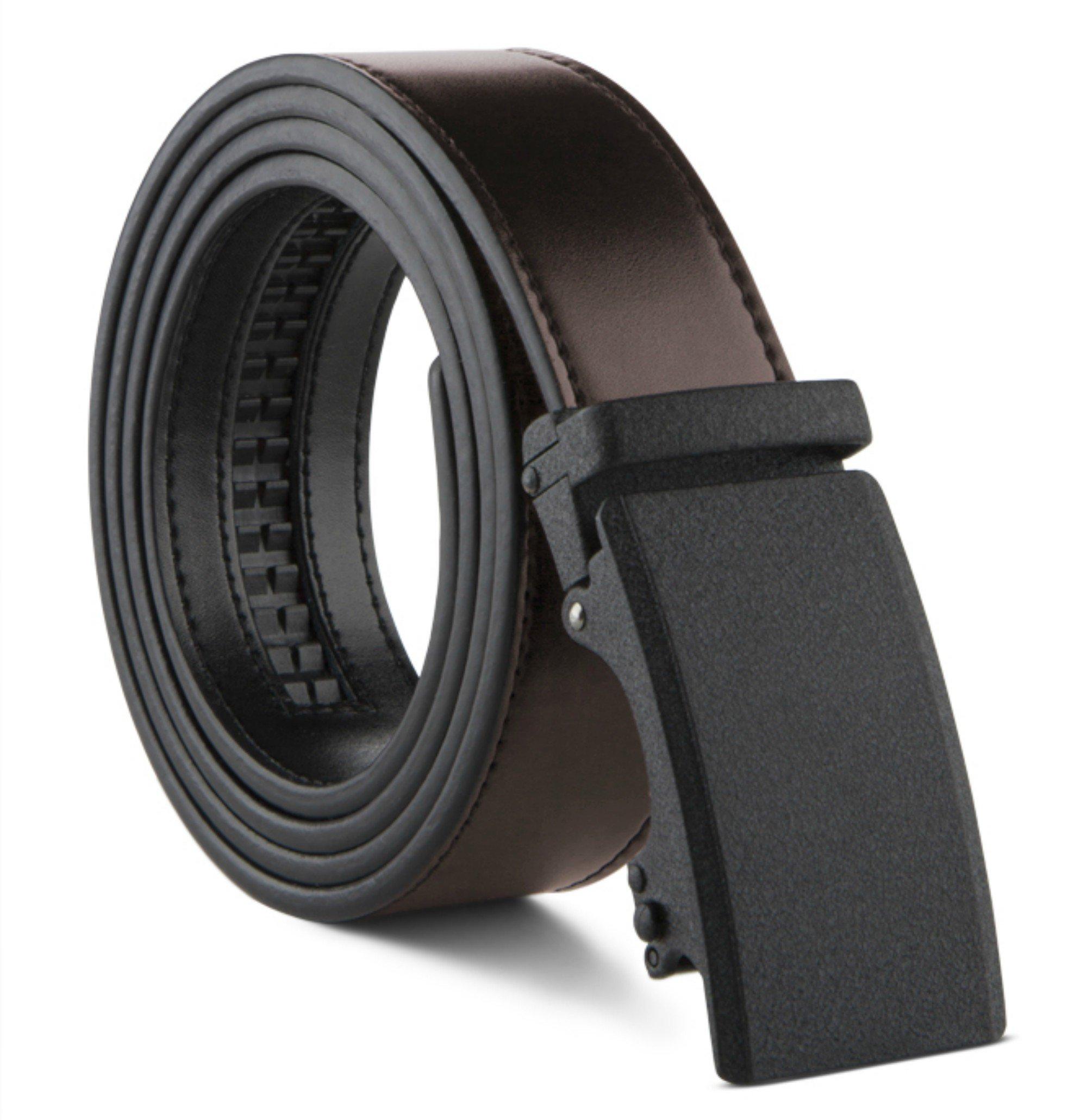 100% Fine Italian Leather Mark Fred Men's Reversible Dress Belt