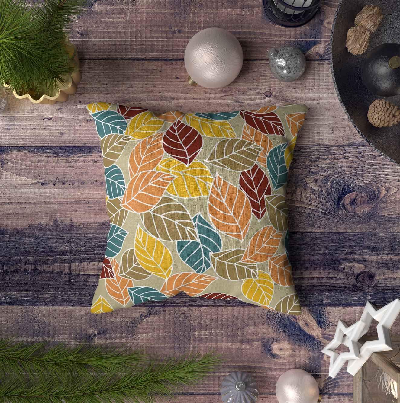 Animal Print Pillow 16x16 Green Turtle Tales E by design PAN466GR28-16 16 x 16 inch