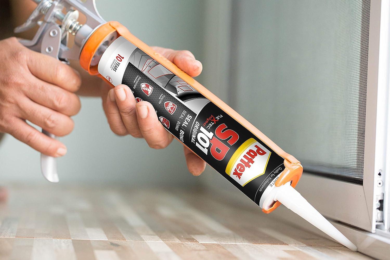 Pattex SP101 Original, adhesivo sellador para interiores y exteriores, polímero sellador transparente multimaterial, sellador de juntas en cartucho, ...